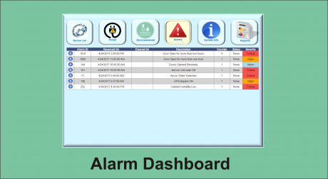 WS dashboard alarm