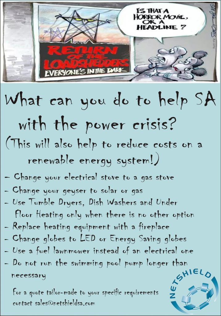 Help SA save power